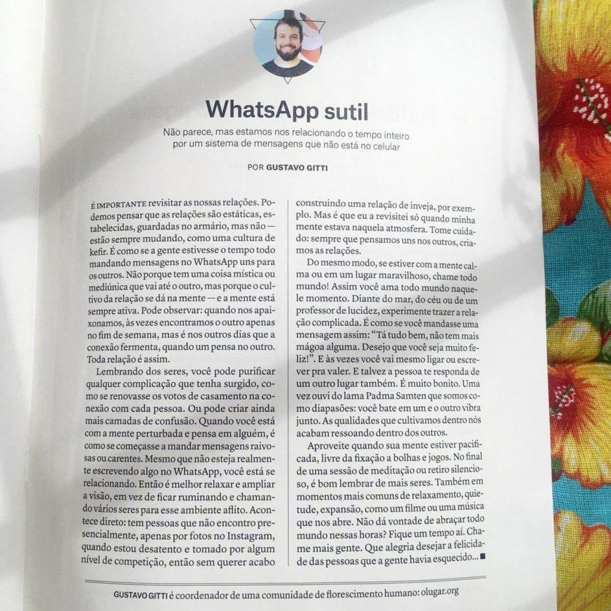 Coluna na revista Vida Simples